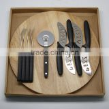 10pcs Stainless Steel Pizza and Cheese Knife Set with Cutting Board/Kitchen Tool/Kitchen ware