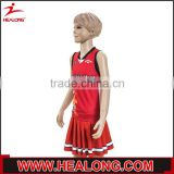 children uniforms silk screen printing basketball uniform design red with dress