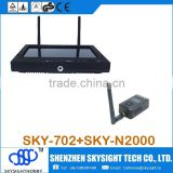 "SKY-702 7"" FPV Monitor Wireless Diversity Receiver with Sun-shade foldable cover compatible with RC Airplane Helicopter"
