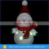 wholesale mini Ceramic led christmas ornament snowman
