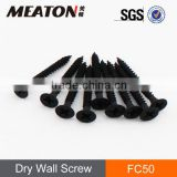 Black drywall screw for furniture