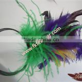 Cheap Feather Chandelle Bao Turkey Feather Headband For Wholesale Party Feather Headdress