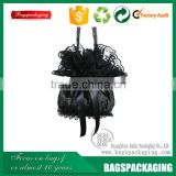 Fashion lace material women black handbag