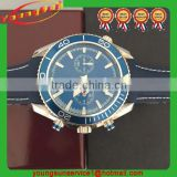 Hot Sale Top Quality Costomed Automatic Machanical Watch for Men Blue Leather