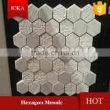 Various Surfaced Hexagon Marble Mosaic Tiles                                                                         Quality Choice
