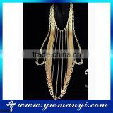 Wholesale high quality fashion body jewelry making supplies full body chain jewelry B0006