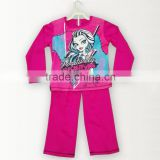 High Quality 100% Cotton Soft Wear Monster high Printed Kid's Pajamas/Children Sleepwear