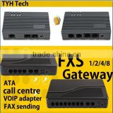 8 port fxs gateway support SIP&H.323 protocal voip phone adapter poe adapter