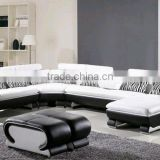 Modern design living room furniture u shaped sectional sofa 8065-2