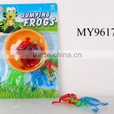 Hot selling jump frog funny toy for kids Educational jumping frog toy Kids Plastic Jumping Frog Games