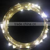 LED String Lights Copper Wire LED Lights, 100 LEDs Waterproof Starry String Lights, 33ft 10m Warm White LED