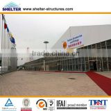tent 15 40x50m outdoor big exhibition tents with transparent ABS wall for 112th canton fair made by guangzhou shelter marquee
