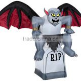 6FT Inflatable Halloween ANIMATED GARGOYLE TOMBSTONE CEMETERY Yard Lawn Decoration