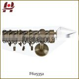 F625352 metal iron aluminium stainless steel brass telescopic aluminum adjustable crystal glass glass curtain rod finials