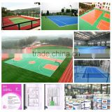 New design Si pu basketball court covering best quality Si pu volleyball court with great price