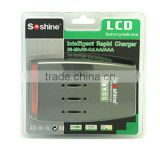 Soshine LCD Quick Charger For AA /AAA Batteries SC-C3 Battery charger for rechargeable AA AAA Battery