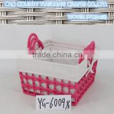 Woven Cotton Rope Storage Organizer Basket