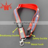 Polyester / Nylon material custom safety clip lanyard with nice printing
