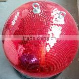 30inch 75cm led double hoops mirror ball night club stage decor glass ball floats for sale