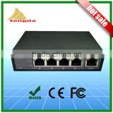 Atongda 96W 10/100/1000Mbps 5 port High Power PoE Switch 48V Power Over Ethernet Switch 4 PoE port and 1 Uplink