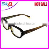 Clear lens buffalo horn eyeglasses OX glasses