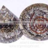 Orgone Black Tourmaline Aluminium Layer Antenna : Wholesale Black Tourmaline Orgonite Product