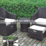 aluminum folding table and chair in 5.0 round wicker and it is so so hot