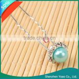 High Quality 20pcs Charming Blue Pearl Hair Pin