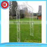 Beautiful hand craft custom metal outdoor white garden wedding arch                                                                         Quality Choice