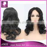 Black color body wave heat resistant celebrity wig synthetic hair wig lace front synthetic wig in stock