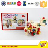 DIY Wooden Natural Blocks Baby Toys Building Blocks Factory DIY toy