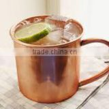 Straight Copper Beer Mugs with Brass Handle, Pure Copper Beer Mugs, Copper Drinking Mugs, Moscow Mule Copper Beer Mugs