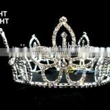 clear rhinestone tiara full round large pageant crown