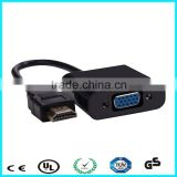 Factory gold plated hdmi to vga converter box for computer
