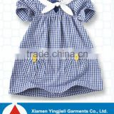 2015 Kids Jeans Dresses with Simple lovely blue fade Baby Cloth Vietnam Dresses for Kid