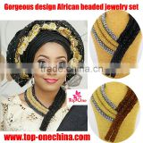Alibaba China dubai beads costume jewelry set for wedding/African fashion handwork jewelry sets                                                                                                         Supplier's Choice