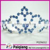 blue rhinestone big pageant crown for beauty queen