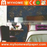 Classic Floral Deep Embossed Interior Decorative Wall Paper Full Size Flower Natural Beautiful Wallpapers for Wall                                                                         Quality Choice