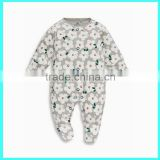 Factory sale baby footie outfits cotton baby footed pajamas baby rompers wholesale