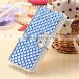 NEW Bling Crystal Diamond Bow Wallet Case for S7/S7 edge .For iphone 6/6s bling crystal wallet case for Girls gift