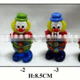 colorful glass clown with hat home decoration