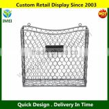 Country Rustic Gray Metal Wire Wall Mounted Magazine, File & Mail Holder Basket w/ Chalkboard LabelYM5-1162