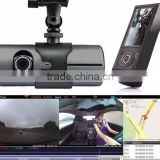 "2.7"" LCD G-sensor 140 Degree New R300 Car DVR Camera Dash Cam Dual Camera Vehicle Dashboard gps tracker logger"