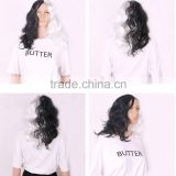 2015 New Arrival Black with White Color Wave Wig Cosplay Hair Hallowmas Wig Women Men's Synthetic hair
