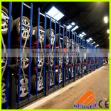 Steel Material and collapsible Feature Tyre rack, tire rack storage system, floor standing belt and tie rack