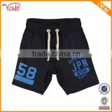 Mens Black Printed Sports Polyester Track Pants Short Pants Wholesale