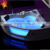 whirlpool massage bathtube with led lights