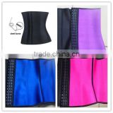 Top quality with wholesale price colorful steel bone hot sexy women latex slimming corset