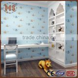 special interssting design kids room background non woven wallpaper with pure paper bottom