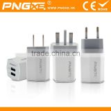 Wholesale 5V 2.1A+1A Universal Portable Dual USB Travel Charger Adapter For All Mobile Device